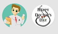 Doctors day Tag template