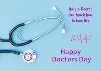 Doctors day Poskaart template
