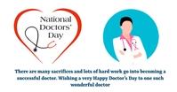 Doctors day auf Facebook geteiltes Bild template