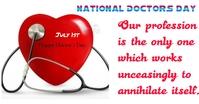 Doctors day Obraz udostępniany na Facebooku template