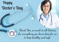 Doctors day Открытка template