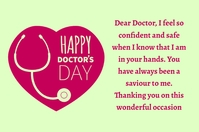 Doctors day Label template