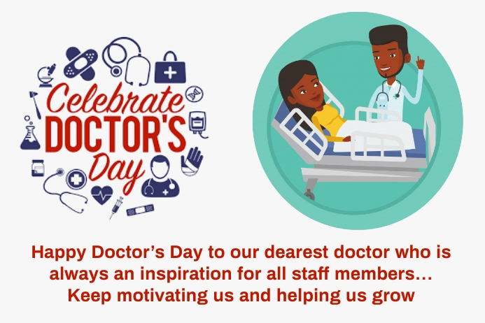 Doctors day ป้าย template