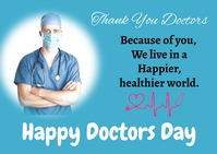 Doctors day 明信片 template