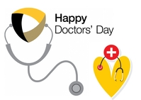 Doctors day Postcard template