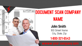 Document Scan Company Business Card