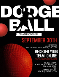 Dodgeball Championship Flyer Template
