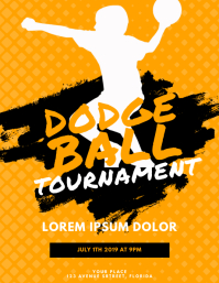 Dodgeball Flyer Template