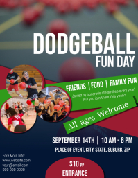 Dodgeball Fun Day Flyer Template