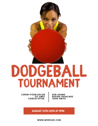 Dodgeball Game Flyer Template