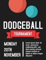 Dodgeball Sports Tournament Flyer