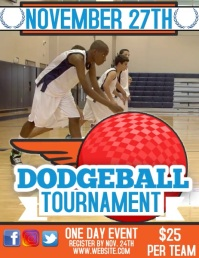 DODGEBALL TOURNAMENT FLYER DIGITAL TEMPLATE