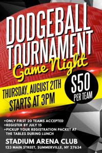 Dodgeball Tournament Poster