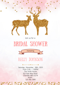 Doe bridal shower invitation