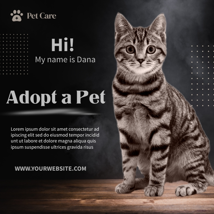 Dog Adoption Ads Square (1:1) template
