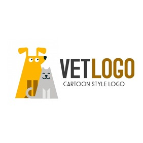 dog and cat cartoon icon logo Логотип template