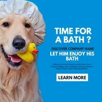 dog bath services instagram post social media template