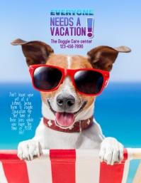 dog boarding flyer Pamflet (Letter AS) template