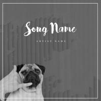 Dog Call Me Music Album Cover Template