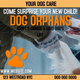 DOG CARE ORPHANAGE AD DIGITAL VIDEO Instagram Post template
