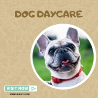 dog daycare instagram post template Instagram-bericht