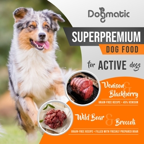 Dog Food Ad Instagram Image Instagram-bericht template