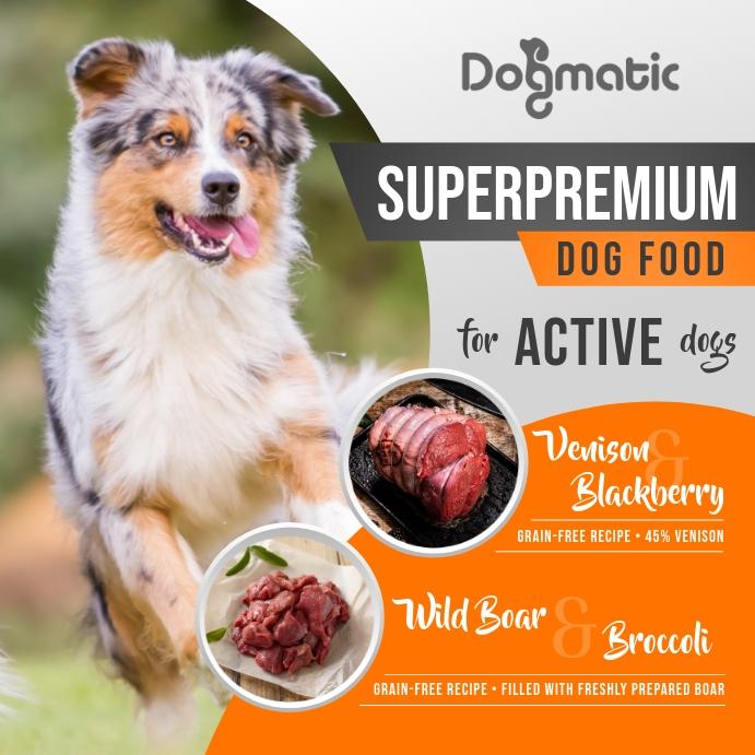 Dog Food Ad Instagram Image template