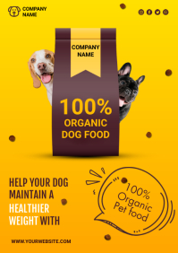 dog food A4 template