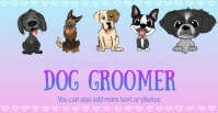 Dog Groomer cute Dogs Slideshow Template Iklan Facebook