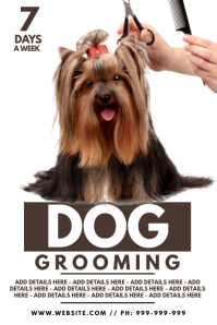 Dog Grooming Poster template