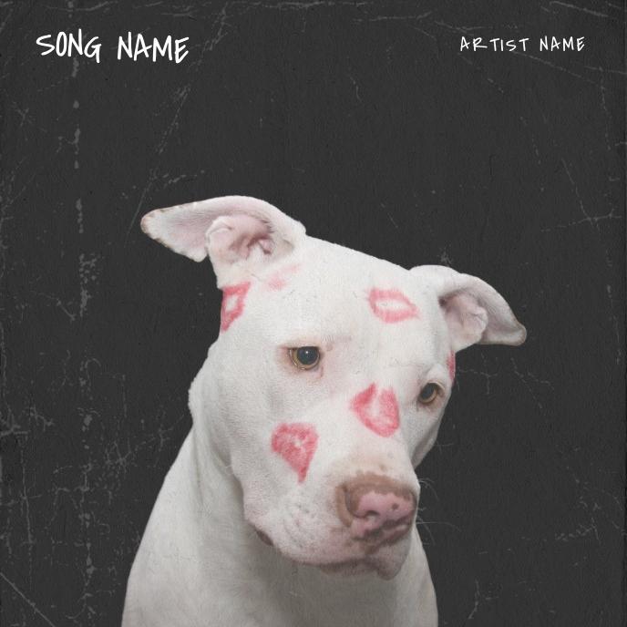 dog love kiss mixtape album cover template