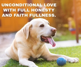 DOG LOVE QUOTE TEMPLATE Malaking Rektangle