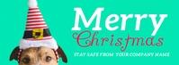 Dog Merry Christmas Facebook Bann template