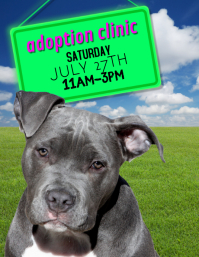 Dog Pet Adoption Flyer Advertisement Template