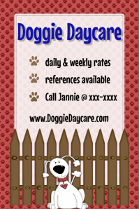 Dog Pet Sitting Daycare Walking Training Flyer Poster