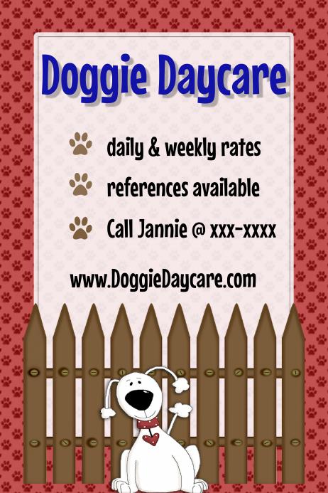 Dog Pet Sitting Daycare Walking Training Flyer Poster Template