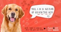 Dog Pets Banner Изображение, которым поделились на Facebook template