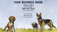 Dog Related Business Card template