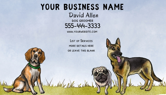 Dog Related Business Card 名片 template