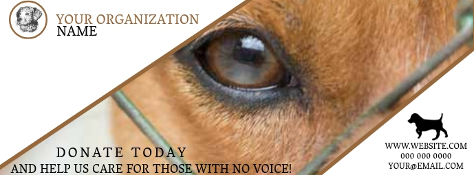 Dog Shelter Rescuer Facebook Cover template