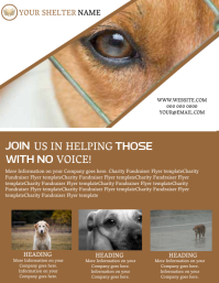 Dog Shelter Rescuer Flyer template