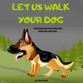 DOG WALKER AD ADS ADVERT SOCIAL MEDIA Instagram Post template