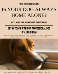 Dog Walker ad Flyer Template