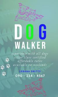 DOG WALKER FLYER US Legal template