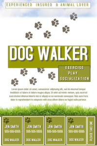 Customizable design templates for dog walker postermywall dog walker pronofoot35fo Choice Image