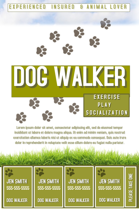 Dog Walker Template Postermywall