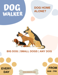 DOG WALKER Flyer Template