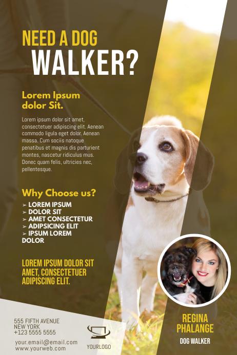 copy of dog walker flyer template