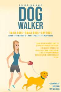 Dog Walker Flyer Template