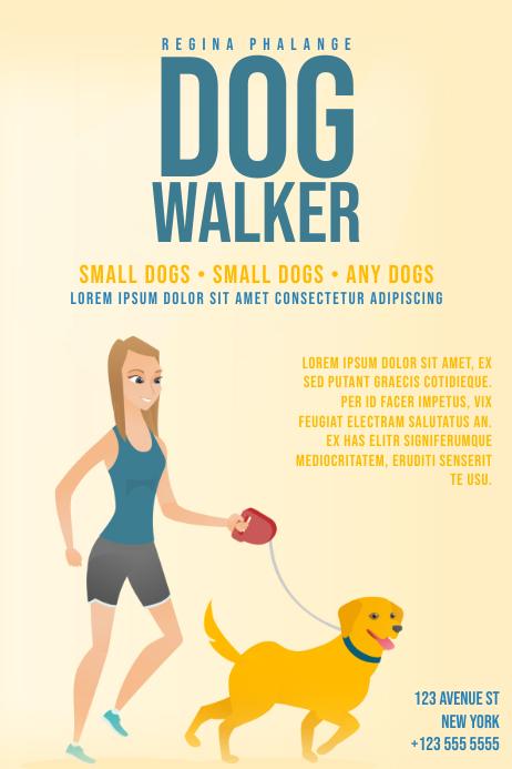 Dog Walker Flyer Template Postermywall